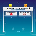 Cartel Portico en Boulogne